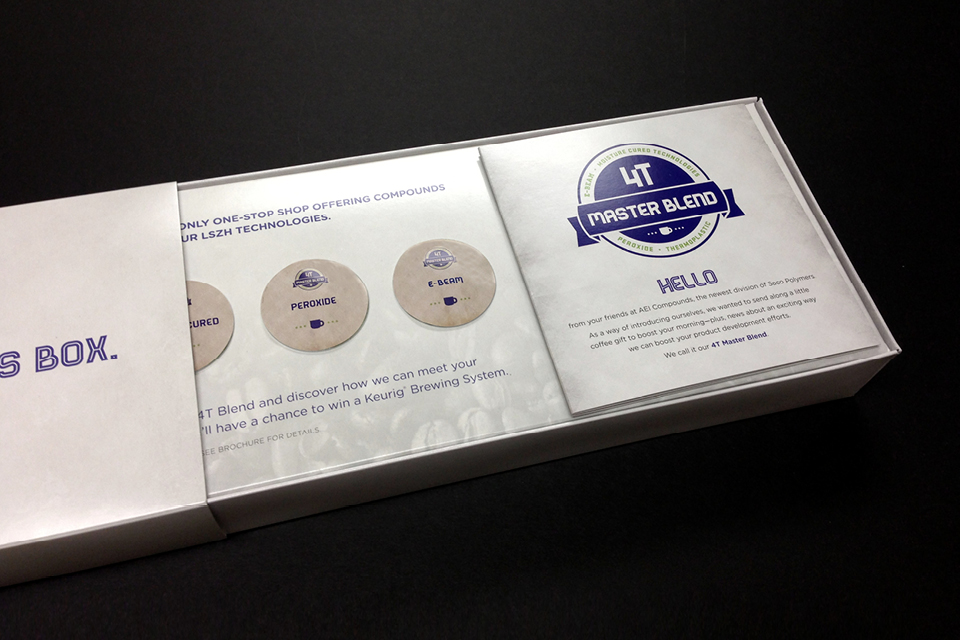 Saco Polymers 4T Master Blend Campaign - 3D Mailer Brochure